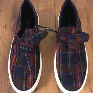 Checked Sneakers with bow  size 9